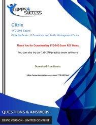 Updated 1Y0-240 Dumps -  1Y0-240 Citrix Content Management Exam Questions For Guaranteed Success