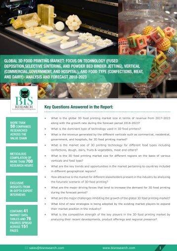 3D Food Printing Market Report (2018-2023)