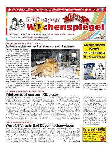 Dübener Wochenspiegel - Ausgabe 18 - Jahrgang 2018