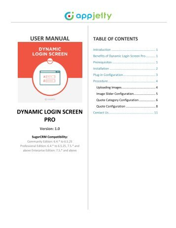 SugarCRM Dynamic Login Screen Pro Plugin