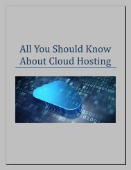 All You Should Know About Cloud Hosting