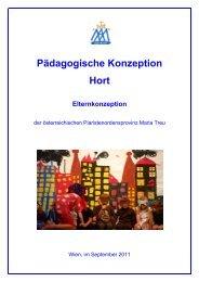 Pädagogische Konzeption Hort Elternkonzeption - Hort Maria Treu ...