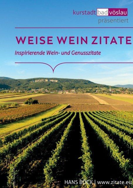 Stadtgemeinde Bad Vöslau - WEISE WEIN ZITATE