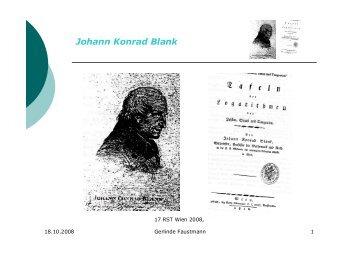 (Logarithmen-)Tafelmacher Johann Konrad Blank