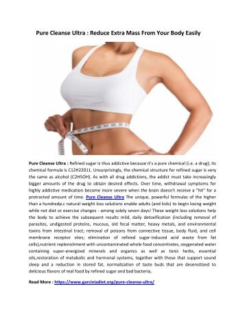 Pure Cleanse Ultra : Improve Your Digestive System & Make Your Body Fit