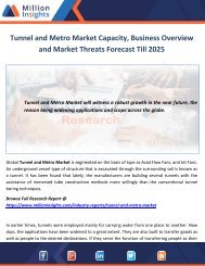 Tunnel and Metro Market Capacity, Business Overview and Market Threats Forecast Till 2025