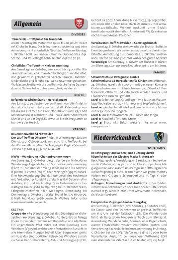 Gemeindespalten KW39 / 27.09.18