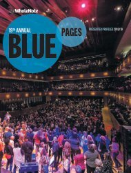 Blue Pages | 19th Annual Directory of Music Makers - October 2018
