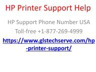 HP Printer Support Help +1-877-269-4999