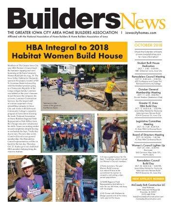 Builders News Oct. 2018
