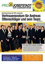 Vertrauensvotum für Andreas Ottenschläger und ... - Pro Josefstadt