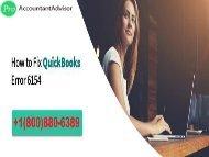 QuickBooks Error 6154 -- What is QuickBooks Error 6154?