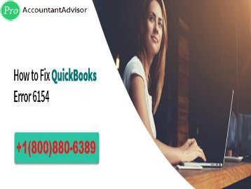 QuickBooks Error 6154 -- What is QuickBooks Error 6154?