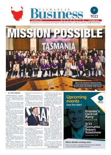 Tasmanian Business Reporter October 2018