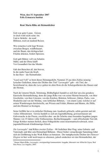 Rainer Maria Rilke als Heimatdichter (als PDF)