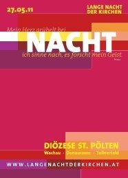 DIÖZESE ST. PÖLTEN - Lange Nacht der Kirchen