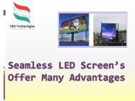 Seamless LED Screens Offer Many Advantages