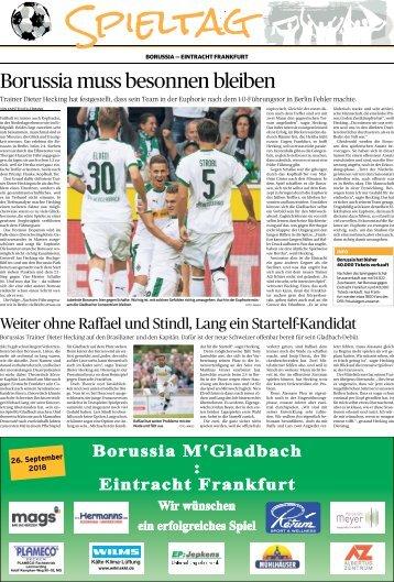 Spieltag: Borussia - Eintracht Frankfurt  -26.09.2018-