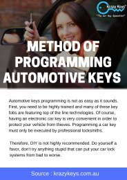 The Process of Programming Automotive Keys | Krazy Keys
