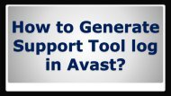 How to Generate Support Tool log in Avast?