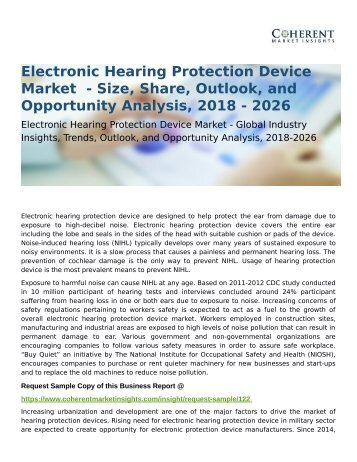 Electronic Hearing Protection Device Market Share, Size and Analysis 2026