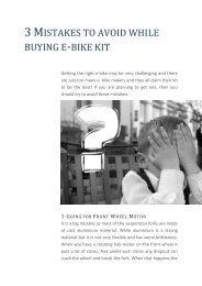 3 Mistakes to avoid while buying e-bike kit