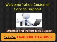 Yahoo Customer Service UK