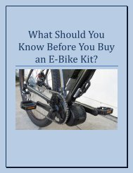 What Should You Know Before You Buy A E-Bike Kit?