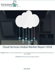 Cloud Services Global Market Report 2018 Sample
