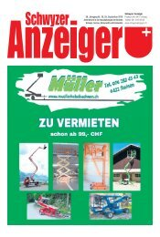 Schwyzer Anzeiger – Woche 39 – 28. September 2018