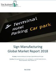 Sign Manufacturing Global Market Report 2018