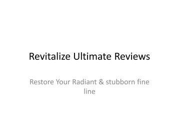 Revitalize Ultimate Reviews