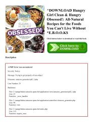 ^DOWNLOAD [PDF] Hungry Girl Clean & Hungry Obsessed! All-Natural Recipes for the Foods You Can't Live Without E.B.O.O.K$