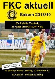 FKC Aktuell - 10. Spieltag - Saison 2018/2019