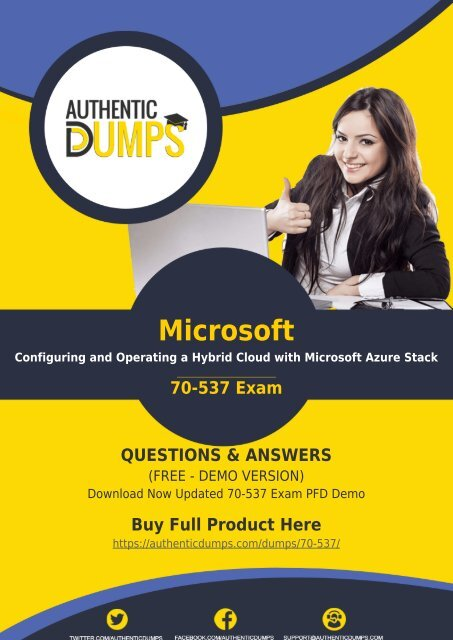 70-537 Dumps | Instant Success in 70-537 Exam with Valid 70-537 Q&A PDF