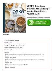 #PDF [Download] Bake from Scratch Artisan Recipes for the Home Baker E.B.O.O.K$