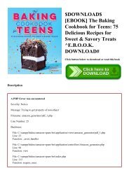 $DOWNLOAD$ [EBOOK] The Baking Cookbook for Teens 75 Delicious Recipes for Sweet & Savory Treats ^E.B.O.O.K. DOWNLOAD#