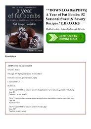 ^DOWNLOAD@PDF#)} A Year of Fat Bombs 52 Seasonal Sweet & Savory Recipes E.B.O.O.K$