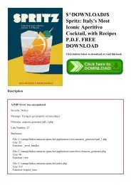 $^DOWNLOAD#$ Spritz Italy's Most Iconic Aperitivo Cocktail  with Recipes P.D.F. FREE DOWNLOAD