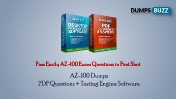 Buy AZ-100 VCE Question PDF Test Dumps For Immediate Success