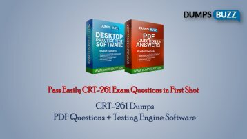 Prompt Purchase CRT-261 PDF VCE Exam Dumps