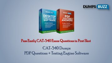 CA Technologies CAT-540 Test vce questions For Beginners and Everyone Else