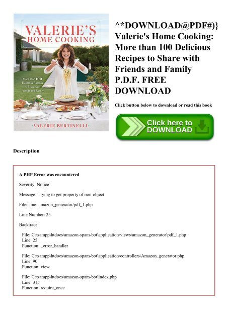 Cooking For Friends PDF Free Download
