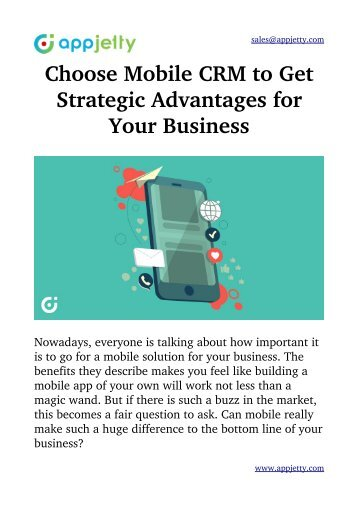 Choose Mobile CRM to Get Strategic Advantages for Your Business