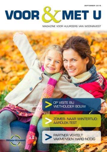 WoonInvest - 'Voor en met u' - editie 2-2018 190918