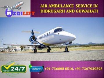 Air Ambulance Service in Dibrugarh and Guwahati