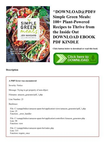 ^DOWNLOAD@PDF# Simple Green Meals 100+ Plant-Powered Recipes to Thrive from the Inside Out DOWNLOAD EBOOK PDF KINDLE