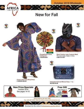 October 2018 Wholesale Flier