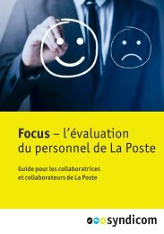 Focus - l'évaluation du personnel de La Poste