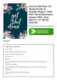 [txt] Get Shit Done  18 Month Weekly & Monthly Planner  2018-2019 Floral Illustration  January 2018 - June 2019  6 x 9 READ ONLINE